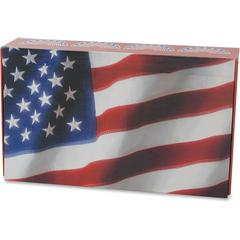 "Aurora Carrying Case for Pencil - Crack Resistant, Break Resistant - Plastic, Paperboard - U.S. flag - 8.6"" Height x 5"" Width x 2.3"" Depth"