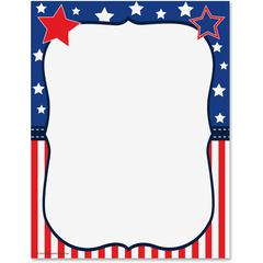 "Teacher Created Resources Copy & Multipurpose Paper - Letter - 8.50"" x 11"" - 50 / Pack - Red, White, Blue"