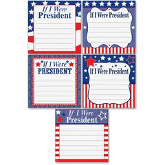 "Teacher Created Resources If I Were President Accents - If I Were President Accents - 6"" Height x 6"" Width - Red, White, Blue - 30 / Pack"