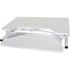"Kantek Desktop Riser Workstation Sit To Stand White - Up to 24"" Screen Support - 5.3"" Height x 35"" Width x 24"" Depth - White"