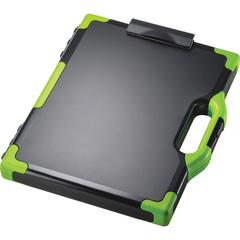 "OIC Clipboard Storage Box - Tablet, Notebook - 8 1/2"", 8 1/2"" x 11"", 14"" - Black, Green - 1 Each"