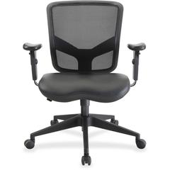 "Lorell Executive Chair - Black - 27.5"" Width x 28.5"" Depth x 38.5"" Height"