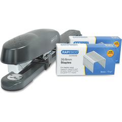 Rapesco 790 Long Arm Stapler with Staples Set - 50 Sheets Capacity - 26/8mm, 24/8mm, 26/6mm, 24/6mm Staple Size