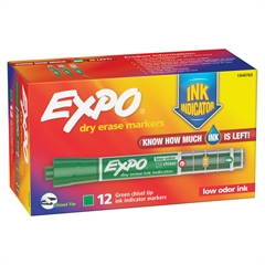 Sanford Expo Dry Erase Ink Indicator Marker - Chisel Point Style - Green - 1 Each