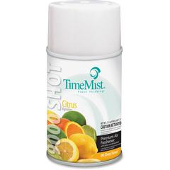 TimeMist 9000 Disp. Refill Citrus Air Freshener - 7.5 fl oz (0.2 quart) - Citrus - 90 Day - 4 / Carton