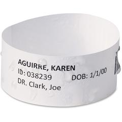 "Avery EasyBand Medical Wristbands with Chart Labels - 2.50"" Width x 1"" Length - 20 / Sheet - Rectangle - Laser - White - 1000 / Box"