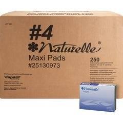 Impact Products Naturelle Maxi Pads - 250 / Carton - Individually Wrapped, Anti-leak