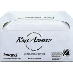 Impact Products Toilet Seat Covers - Half-fold - 250 / Pack - 5000 / Carton - Paper - White