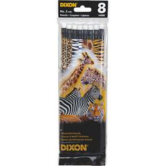 Dixon No. 2 Animal Print Pencils - #2 Lead - Graphite Lead - 8 / Pack