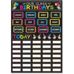 Ashley Chalk Birthday Mini Bulletin Brd Set - Birthday Theme/Subject - Magnetic - 62 Piece