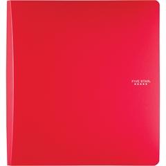 "Five Star 1-12"" Binder - 1 1/2"" Binder Capacity - 11 7/32"" x 11 47/64"" Sheet Size - 300 Sheet Capacity - 3 x Ring Fastener(s) - 2 Pocket(s) - 1 Divider(s) - Plastic, Poly - Red - 1 Each"