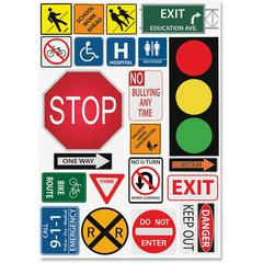 "Ashley Safety Signs Design Calendar Set - Write on/Wipe off, Built-in Magnet - 12"" Width x 17"" Depth - Multicolor - 1 Pack"