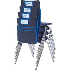 "ECR4KIDS Standard Seat Companion - 15.5"" Height x 15"" Width x 2"" Depth - Seat - Blue Trim - Fabric - 6 / Carton"
