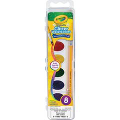 Crayola Washable Glitter Watercolors Set - 12 / Carton - Assorted Glitter