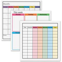 "Flipside Dry Erase Class Managemt Combo Set - 24"" (2 ft) Width x 24"" (2 ft) Height - Assorted Surface - Square - 1 Set"
