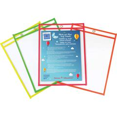 Sparco Write-and-wipe Vinyl Pockets - Assorted Frame - 12 / Box