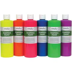 Handy Art Fluorescent Tempera Paint - 6 / Set