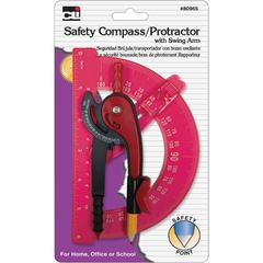 CLI Swing Arm Safety Compass/Protrctr - Plastic - Assorted