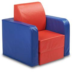 "ECR4KIDS SoftZone Convertible Kids Club Chair - Vinyl - 21"" Width x 20"" Depth x 22"" Height"