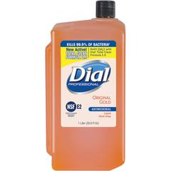 Dial Original Gold Antimicrobial Soap Refill - 33.8 fl oz (1000 mL) - Kill Germs - Skin, Hand - Orange - Antimicrobial - 8 / Carton