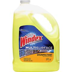 Windex Multisurface Disinfectant - 1 gal (128 fl oz) - 4 / Carton - Yellow
