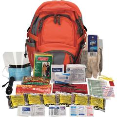 "First Aid Only Emergency Preparedness Backpack - 63 x Piece(s) For 1 x Individual(s) - 17.5"" Height x 12.5"" Width - 1 Each"