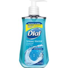 Dial Spring Water Antibacterial Hand Soap - Spring Water Scent - 7.5 fl oz (221.8 mL) - Kill Germs - Hand, Skin - Blue - Moisturizing, Anti-bacterial - 1 Each
