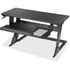"3M Precision Standing Desk - Up to 24"" Screen Support - 35 lb Load Capacity - 35.4"" Height x 23.2"" Width x 6.2"" Depth - Desktop - Medium Density Fiberboard (MDF), Steel - Black"