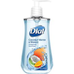 Dial Coconut Water/Mango Hand Soap Pump - Coconut Water & Mango Scent - 7.5 fl oz (221.8 mL) - Pump Bottle Dispenser - Kill Germs - Hand, Skin - Clear - Moisturizing, Anti-bacterial, Residue-free - 12