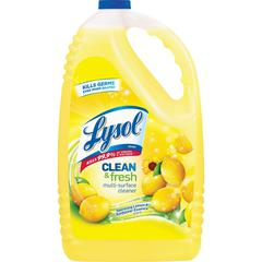 Lysol Clean/Fresh Lemon Cleaner - Liquid - 1.13 gal (144 fl oz) - Clean & Fresh Lemon Scent - 1 Each - Yellow