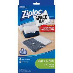 Ziploc® Clothing Space Bag - Extra Large Size - Clear, Black - 2/Pack - Cloth