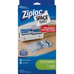 Ziploc® Brand Clothing Space Bag - Large Size - Clear, Black - 3/Pack - Cloth