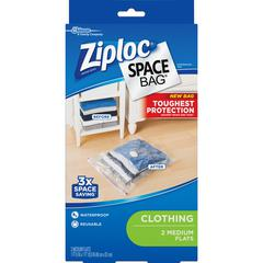 Ziploc® Brand Clothing Space Bag - Clear, Black - 2/Box - Cloth