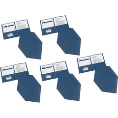 "Avery Two-Pocket Folders - Letter - 8 1/2"" x 11"" Sheet Size - 20 Sheet Capacity - 2 Internal Pocket(s) - Dark Blue - 125 / Carton"