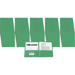 "Avery Two-Pocket Folders - Letter - 8 1/2"" x 11"" Sheet Size - 20 Sheet Capacity - 2 Internal Pocket(s) - Green - 125 / Carton"