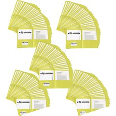 "Avery Two-Pocket Folders - Letter - 8 1/2"" x 11"" Sheet Size - 20 Sheet Capacity - 2 Internal Pocket(s) - Yellow - 125 / Carton"