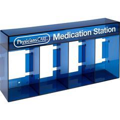 "PhysiciansCare Medication Station Holder - 7"" x 14"" x 3.3"" - 1 Each - Blue"