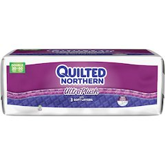 Quilted Northern UltraPlush Tissue - 3 Ply - White - Long Lasting, Septic-free, Absorbent, Sewer-safe, Soft - For Bathroom, Toilet - 30 / Pack