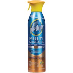 Pledge Multi Surface II 2 in 1 Cleaner - Spray - 9.70 fl oz - Citrus Scent - 6 / Carton - Clear