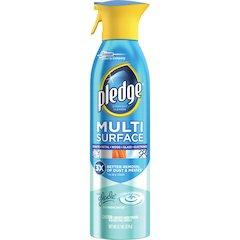 Pledge Multi Surface Everyday Cleaner - Aerosol - 9.70 fl oz - Rainshower Scent - 6 / Carton - Clear