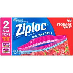 Ziploc® Brand Double Zipper Quart Storage Bags - Medium Size - 1 quart - x 1.75 mil (44 Micron) Thickness - Clear - Plastic - 432/Carton - 432 Per Carton - Food