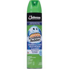 Scrubbing Bubbles Restroom Cleaner - Ready-To-Use Aerosol - 0.20 gal (25 fl oz) - Fresh Clean Scent - 12 / Carton - Clear