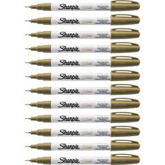 Sharpie Extra Fine Oil-Based Paint Markers - Gold Oil Based Ink - 12 / Box