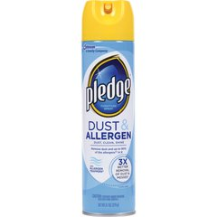 Pledge Dust/Allergen Furniture Spray - Ready-To-Use Aerosol - 9.70 fl oz - Outdoor Fresh Scent - 6 / Carton - Off White