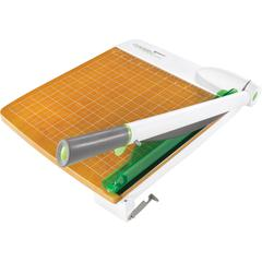Westcott CarboTitanium Guillotine Trimmer - 30 Sheet Cutting Capacity - CarboTitanium Blade - Heavy Duty, Ergonomic Handle, Comfortable - Green, White