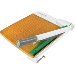 Westcott CarboTitanium Guillotine Trimmer - 30 Sheet Cutting Capacity - CarboTitanium Blade - Heavy Duty, Lockable, Comfortable, Alignment Grid - Green, White
