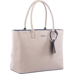 "bugatti Carrying Case (Tote) for 15.6"" Notebook, Accessories - Beige - Synthetic Saffiano Leather - 11"" Height x 6"" Width x 16"" Depth"