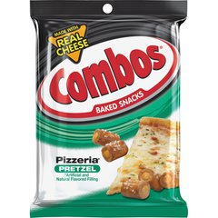 Combos Flavia Baked Pretzel Snack - Spicy Cheese Pizza - 1 Serving Pack - 1.80 oz - 18 / Box