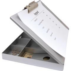 Saunders Cash Box Clipboard - Heavy Duty - Aluminum - 1 Each