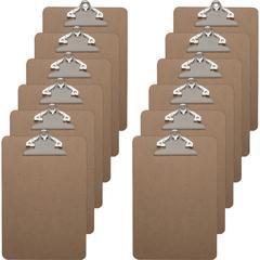 Business Source Standard Metal Clip Clipboard - Standard - Brown - 12 / Box